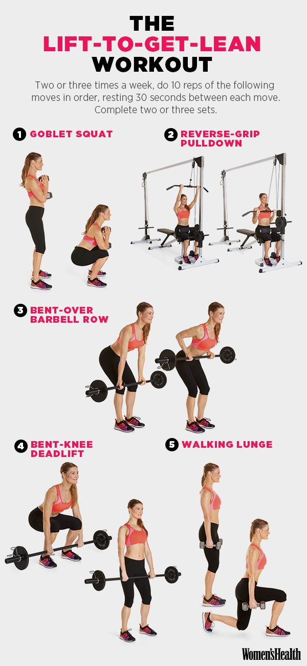 5 Weight-Lifting Moves That'll Help You Drop a Size | @womenshealthmag #workoutwednesday #legday #fitness