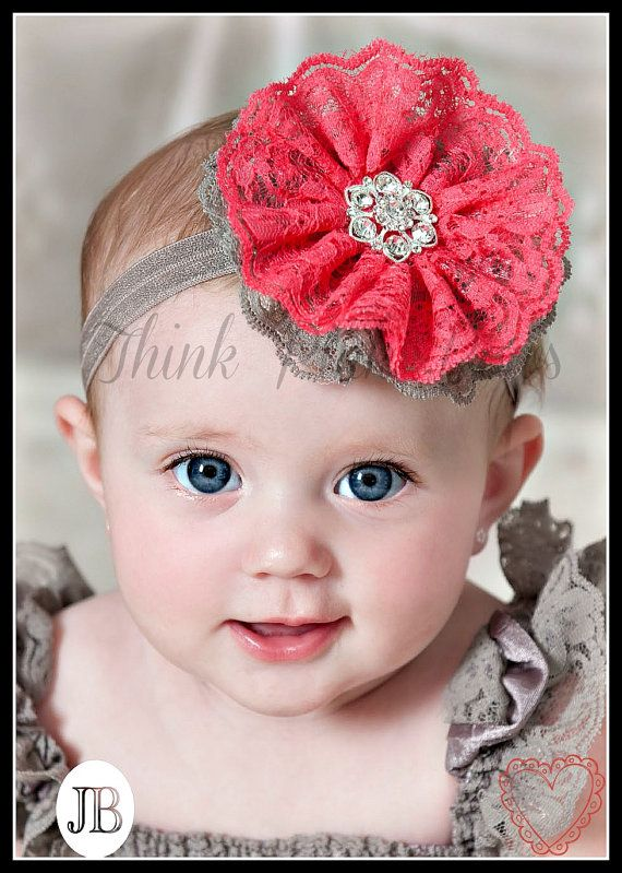 SALEBaby headband Newborn Headband Baby Headbands by ThinkPinkBows, $10.95