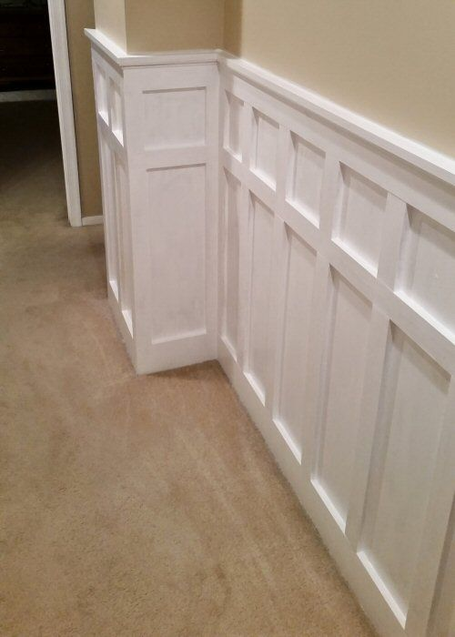 How Install Board And Batten Wainscoting White Painted Square Over Rectangle Pattern One