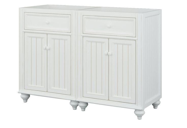 """$1092 View the Sagehill Designs CR4821 Cottage Retreat 48"""" Vanity Cabinet Only - (2) 24"""" Vanity Cabinets at FaucetDirect.com."""