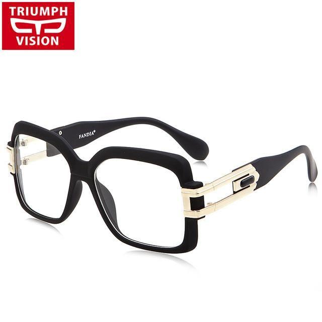 TRIUMPH VISION Clear Lens Glasses Frame Women Square Black Optical Eyewear Frames Female Cool Big Spectacle 2017 New Eyeglasses