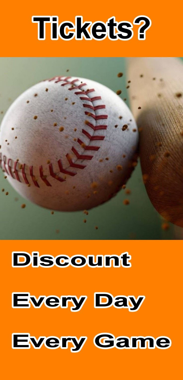 You can get a discount on MLB major league baseball tickets every day