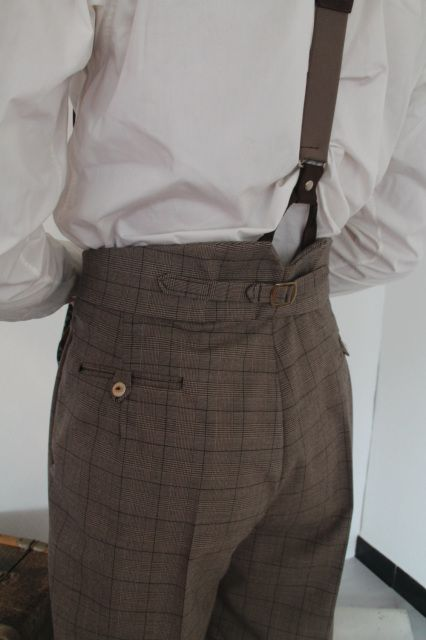 Checkered 1930's high waisted trousers - On the Sunny Side
