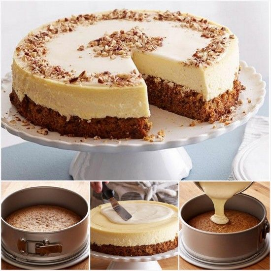 Carrot Cake Cheesecake - copycat version Cheesecake Factory