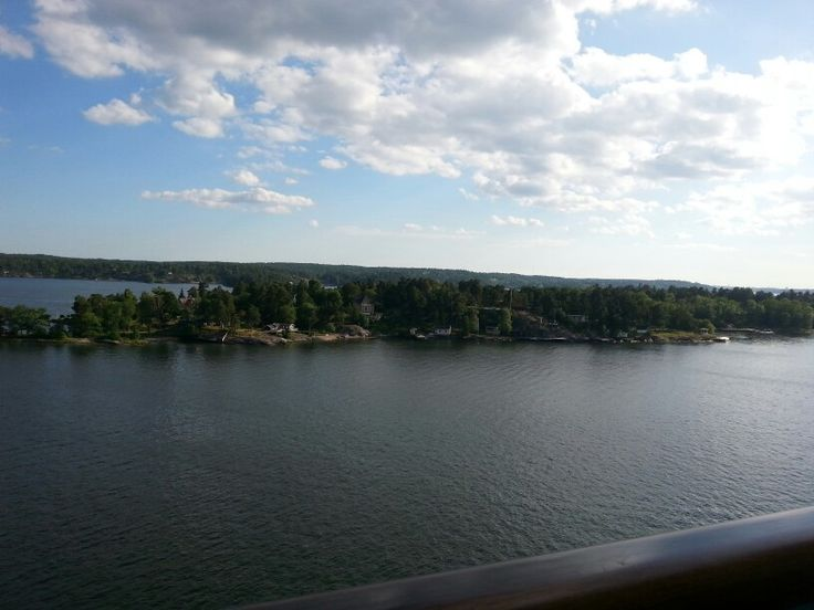Cruising on a big ship again.  Farewelling Stockholm from our balcony.