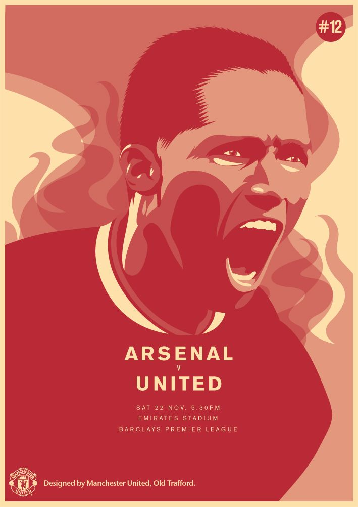 Match poster. Arsenal vs Manchester United, 22 November 2014. Designed by @manutd.
