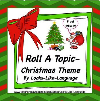 A great FREE resource from Looks-Like-Language to use for writing, oral narratives, speech therapy, or as a game!  Students roll a die and you determine what written or oral language skill they need to use.Included are;* directions* a photo board * a game boardA holiday thank you to my followers!