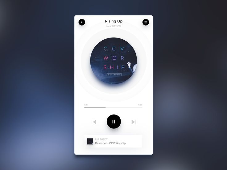 Black on White Design Trend: Music Player by Brett