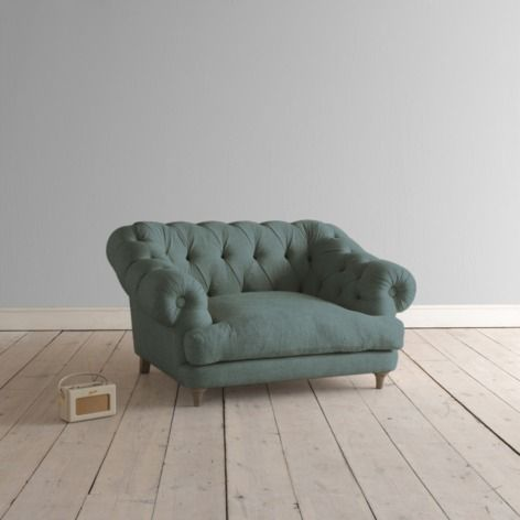 Love Seat Bagsie Love Seat in lagoon clever velvet - Armchairs & Love Seats | Loaf