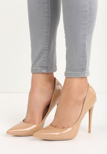 Pantofi stiletto Simplicity D.beige