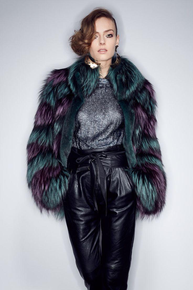 Модная шуба 2017 из искусственного меха из коллекции Braschi.