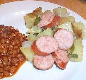 BBQ Grilled Kielbasa Dinner