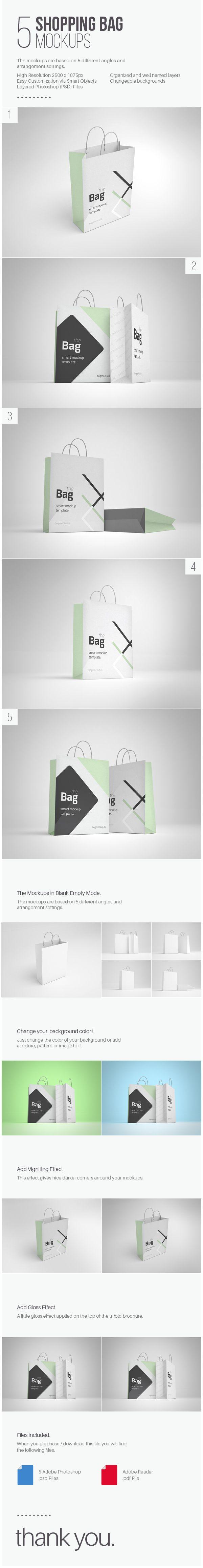 A free shopping bag mockup templates; psd & smart object.