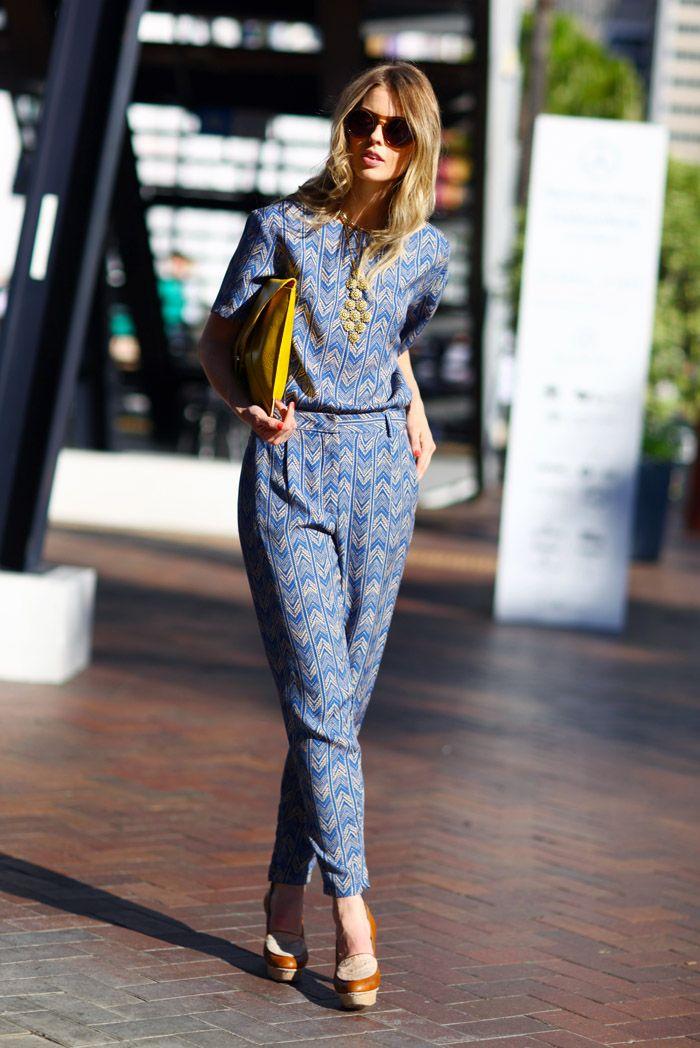 pants and geometric prints