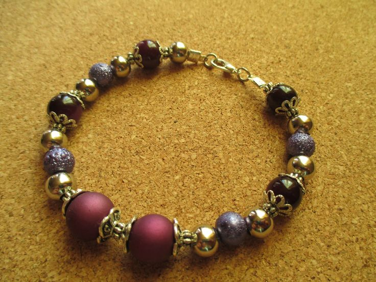 Handmade purple bracelet.