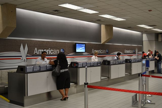 American Airlines Airport Check-In Signage