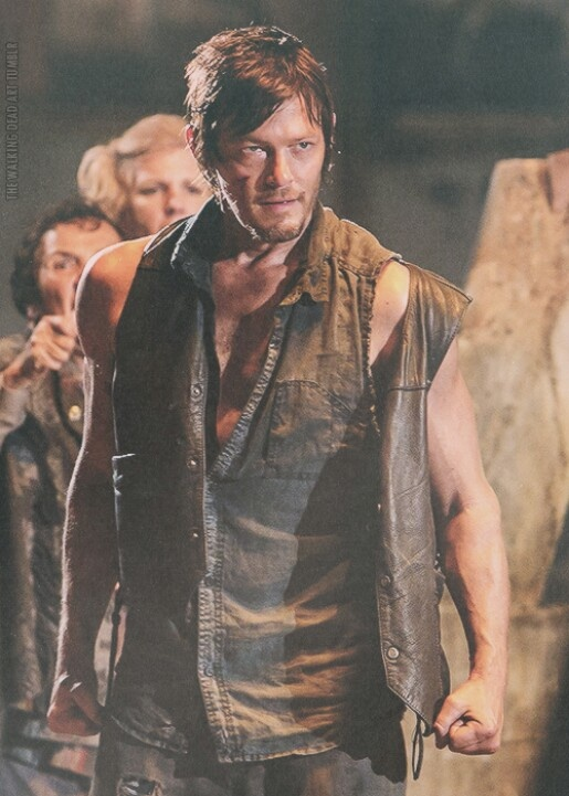 """So no chance for peace between Woodbury and the prison gang? """"I don't think anybody wants to have a peace treaty with anybody,"""" insisted Norman Reedus, who has transformed Daryl Dixon from a hate-mongering squirrel assassin to one of the most richly complex and beloved characters on the show. """"I think it's us versus them,"""" he added. """"I don't think there's any 'Let's wave a white flag' at this point."""""""