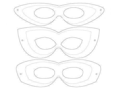 FREE PRINTABLE TEMPLATE with 3 different mask designs included to create your own superhero mask! - Dabbles & Babbles