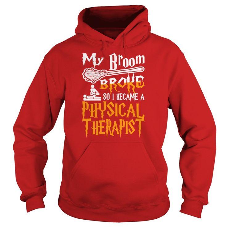 Mein Besen brach wurde körperlicher Therapeut Halloween T Shirt   – Best Tshirt designs