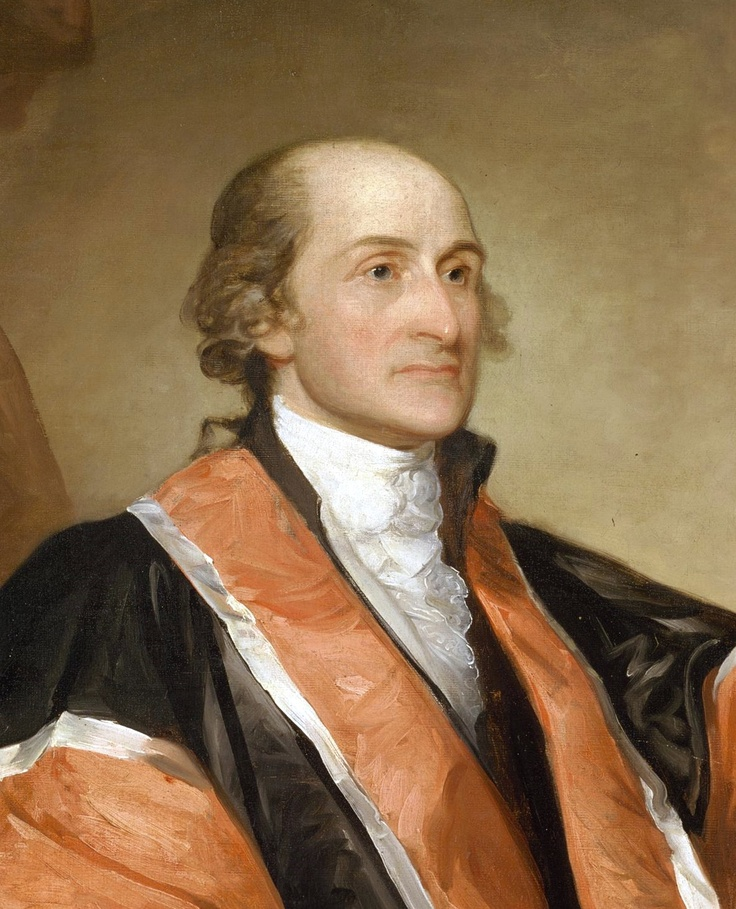 """""""No power on earth has a right to take our property from us without our consent."""" -- John Jay [portrait by Gilbert Stuart]"""