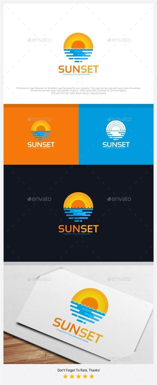 Sunset Logo - Nature Logo Templates