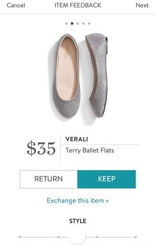 VERALI Terry Ballet Flats from Stitch Fix. https://www.stitchfix.com/referral4292370