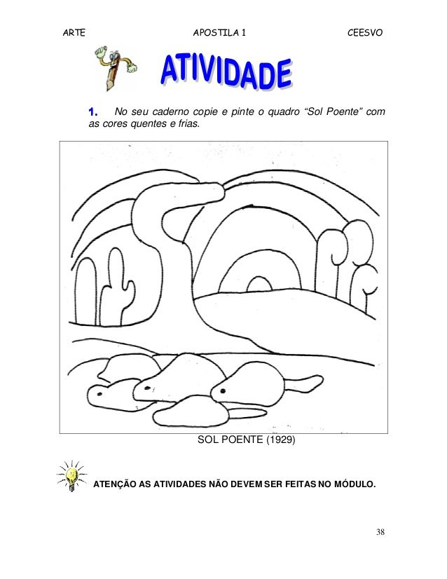 Resultado De Imagem Para Obras Arte Colorir Tarsila Do Amaral