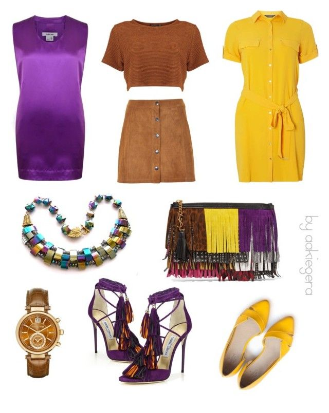 """""""A capsule"""" by aakiegera on Polyvore featuring мода, Jimmy Choo, Dorothy Perkins, Soaked in Luxury, Yves Saint Laurent, Helmut Lang и Michael Kors"""