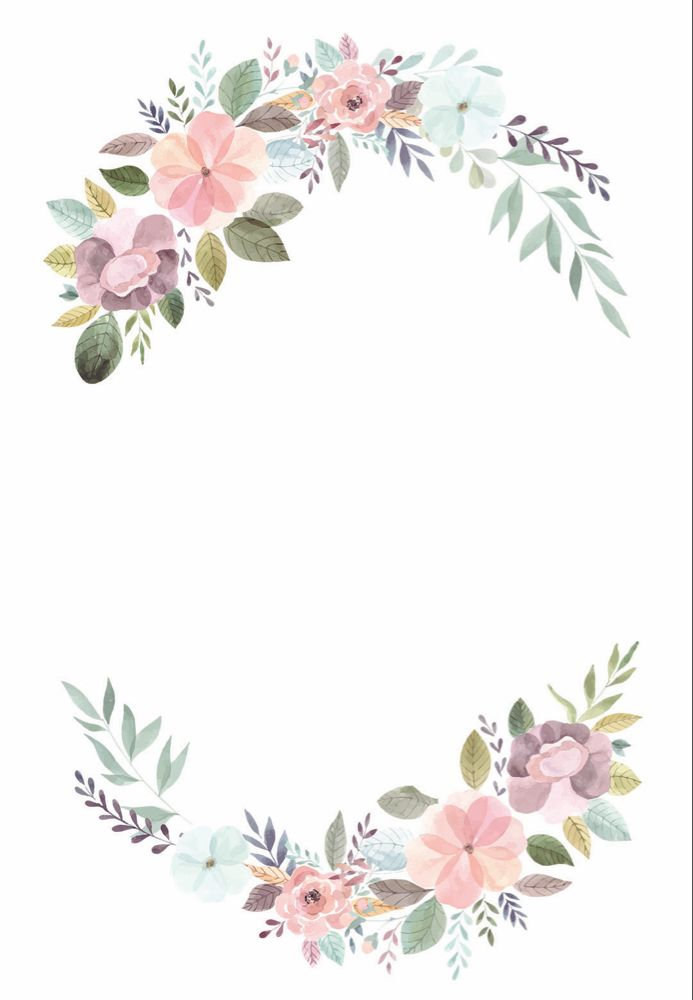 Soft Floral Wedding Invitation Template Free In 2020 Pastel