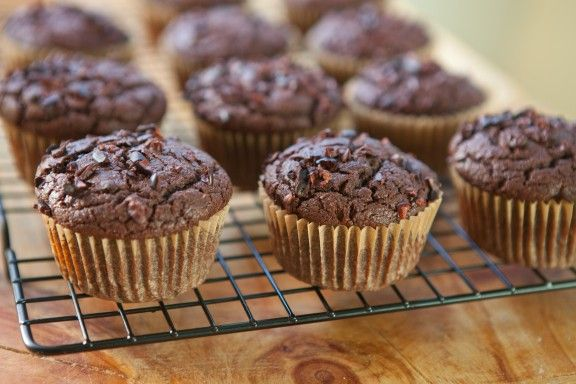 Nibby Chocolate Rye Muffins | A Sweet Spoonful