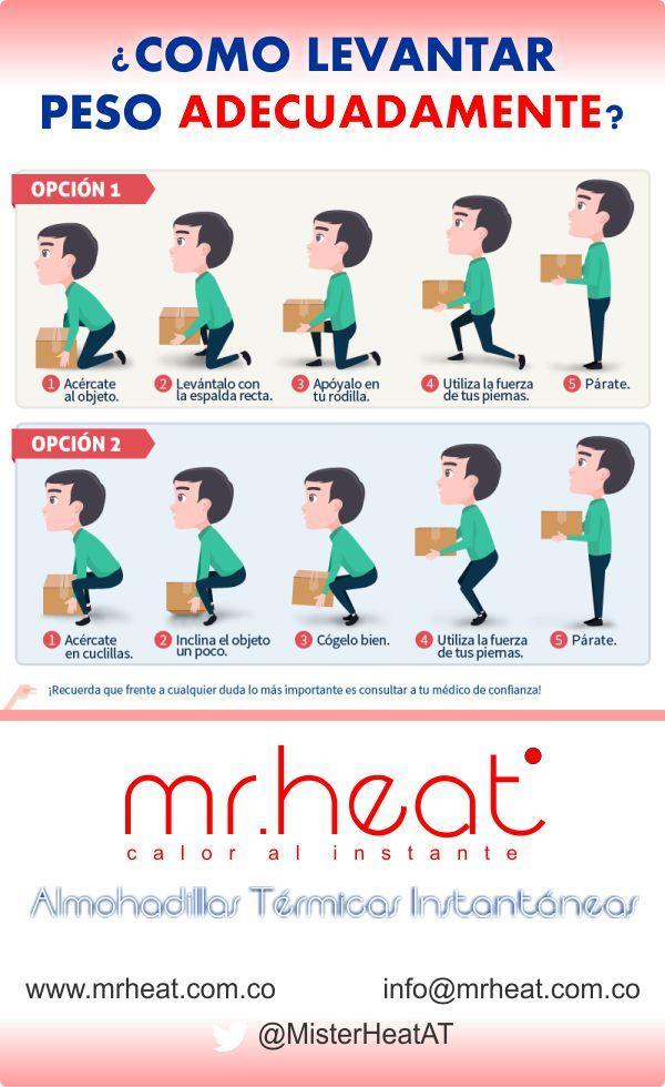Cuide su espalda, levante los objetos con las piernas NO con la espalda. #mr_heat    #alivia_dolores