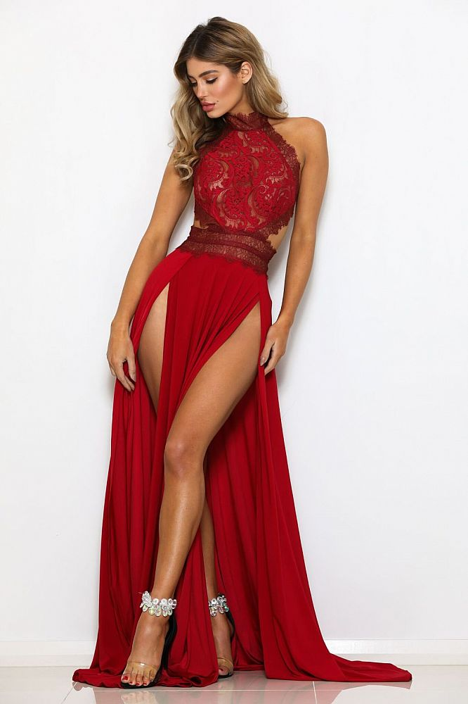 Red formal evening gowns, short party dresses in red