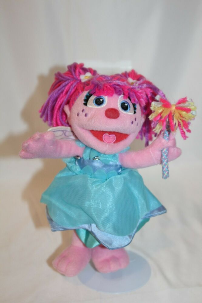 Sesame Place Street Abby Cadabby Fairy Muppet Plush Stuffed
