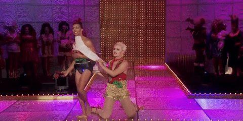 Venus D-Lite vs Shangela Laquifa Wadley • RuPaul's Drag Race • Season 3 #GIF #lipsyncforyourlife