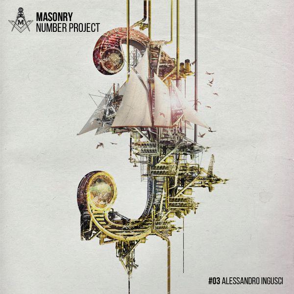 "THREE by Alessandro Ingusci ""Masonry Number Project"" project by Massoneria Creativa, on Behance"