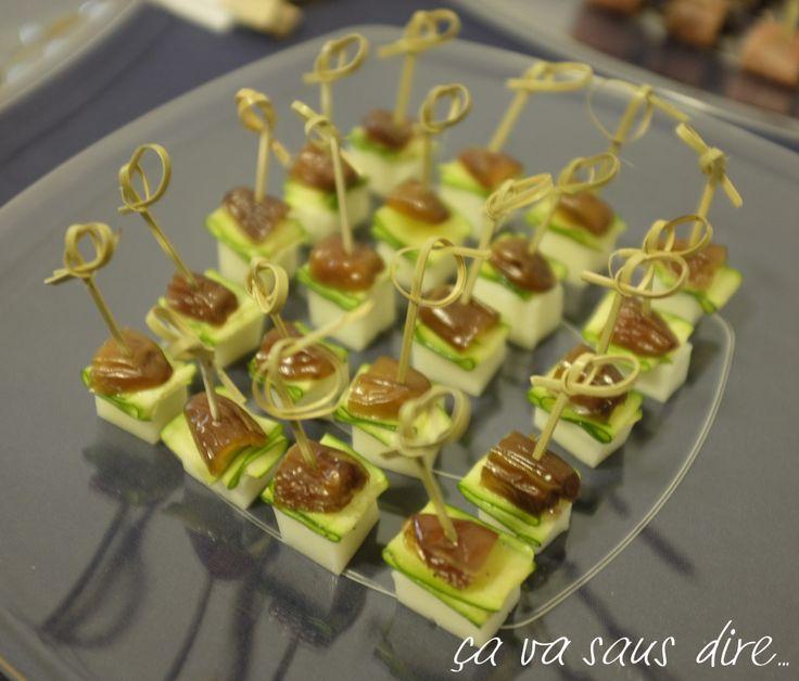 Bocconcini Formaggio di Capra Zucchine Marinate e Datteri