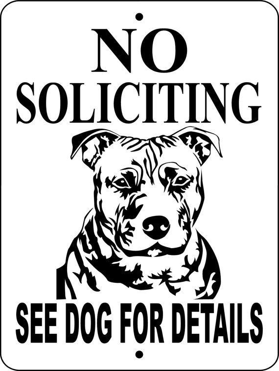 no soliciting sign pitbull dog sign 9 u0026quot x12 u0026quot   u0026quot aluminum