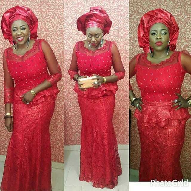 "Nigerian Wedding Presents ""Rise Of The Monotone Aso-ebi""- Check Out Latest Monotone Aso-ebi Styles & Classy Fabrics To Inspire You This 2015 