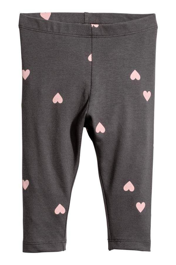 Dark gray hearts. CONSCIOUS. Leggings in soft 4f8fc3746e7