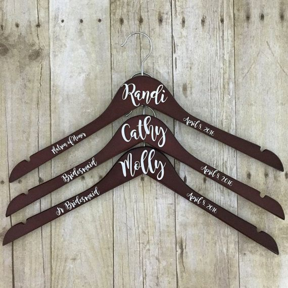 Custom Wedding Hanger, Dress Hanger, Brides Hanger, Bridesmaids Gift, Bridesmaids Hanger, Gown Hanger