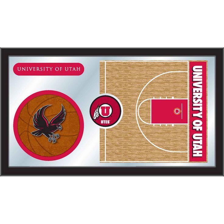 Utah Utes Basketball Court Mirror Wall Art
