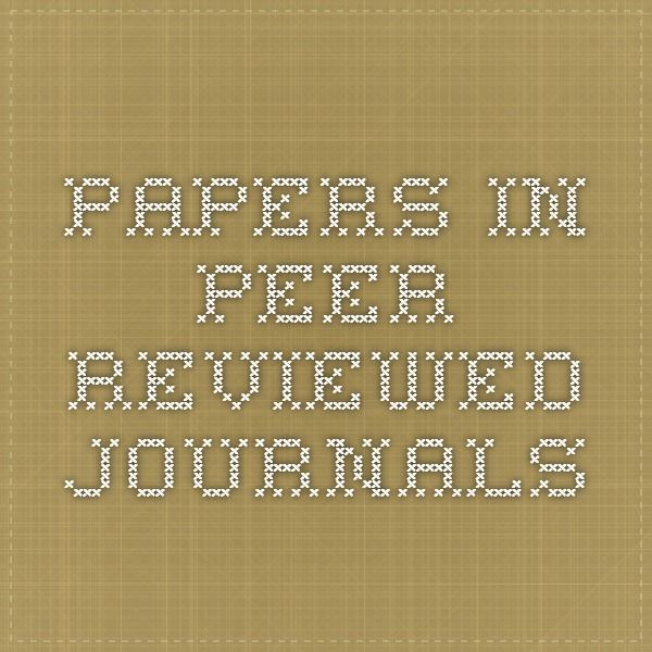 Papers in peer-reviewed journals