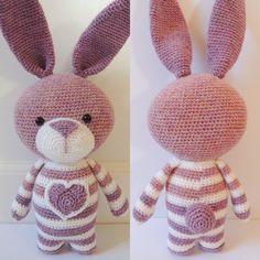 Crochet pattern Bea the rabbit by PoppaPoppen on Etsy