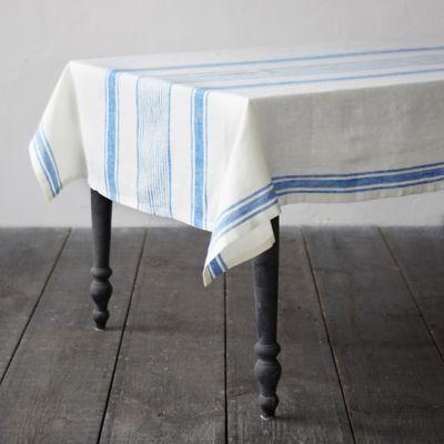 Lithuanian Linen Tablecloth, Market Stripe