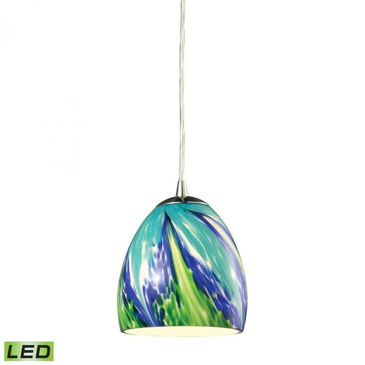 ELK Lighting 31445/1TB-LED 1 Light Nickel Pendants | LightsCanada.ca | Lights Canada