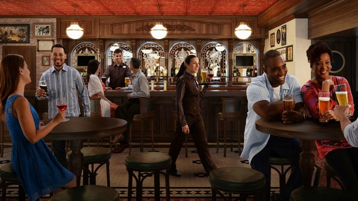 Crown & Fin Duck in for a jolly time and a frosty pint at this inviting bar resembling a classic British pub. Ship Locations Disney Wonder  Nightclubs & Lounges Adult Exclusive