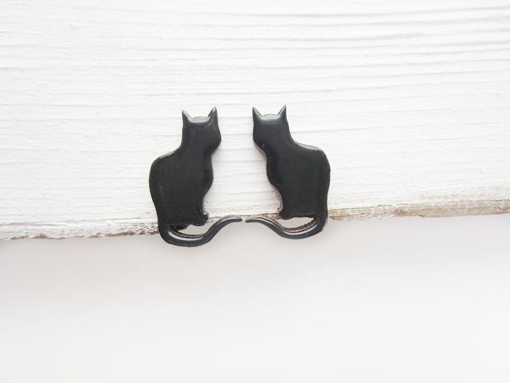 """cats at DaWanda Stud earrings """"Black cats"""" from MagicTwirl by DaWanda.com"""