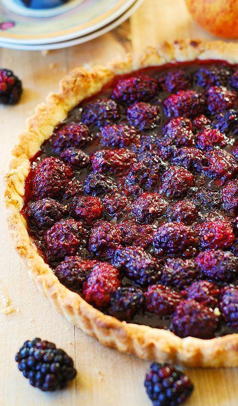 Blackberry tart (with lemon zest). Great Summer dessert! Serve warm with a scoop of vanilla ice-cream!