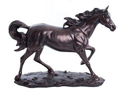 Beautiful Juliana in bronzo cavallo al galoppo Scultura Figura
