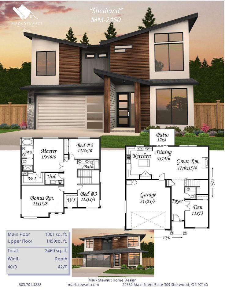 Shedland By Mark Stewart Home Design · Moderne HauspläneModerne Häuser DamentoilettenFoyers